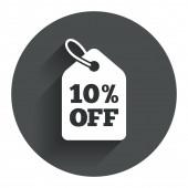 10 percent sale price — Stock Vector