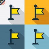 Flag pointer signs — Wektor stockowy