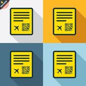 Boarding pass flight signs — Stock Vector