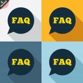 FAQ information signs — Vetorial Stock