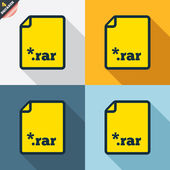 Archive file icons — Vector de stock