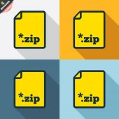 Archive file icons — Stock Vector