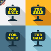For sale sign icons — Stock Vector