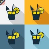 Cocktail signs — Cтоковый вектор