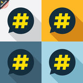 Hashtag speech bubble signs — Stock Vector
