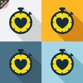 Heart Timer signs — Cтоковый вектор