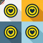Target aim signs — Cтоковый вектор
