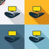 TV insurance signs — Cтоковый вектор