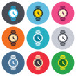 ������, ������: Wrist Watch sign icons
