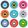 Heart Timer sign icons — Stock Vector #63392999