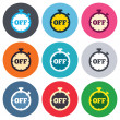 Timer off sign icons — Stock Vector #63393059