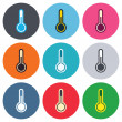 Thermometer sign icons — Stock Vector #63393325