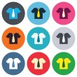 Shirt with tie sign icons — Stock Vector #63395137