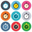 Timer sign icons — Stock Vector #63395569