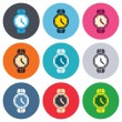 Постер, плакат: Wrist Watch sign icons