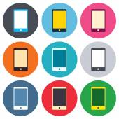 Smartphone sign icons — Stock Vector