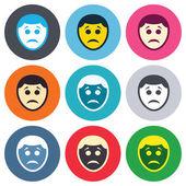 печальные символы знака лица — Cтоковый вектор