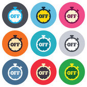 Timer off sign icons — Stock Vector