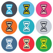 Hourglass sign icons — Stock Vector