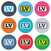 Latvian language signs — Stock Vector