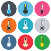 Thermometer sign icons — Vector de stock