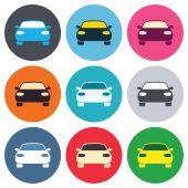 Car sign icons — Vector de stock