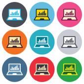 Laptop sign icons — Vecteur