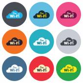 Free wifi signs — Stock Vector
