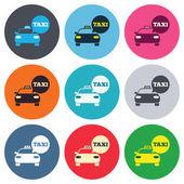 Taxi car sign icons — Vector de stock