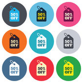 50 percent sale price — Stock Vector