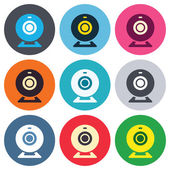 Webcam sign icons — Stock Vector