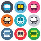 Bus sign icons — Vecteur