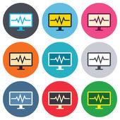 Cardiogram monitoring signs — Stock Vector