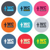 WC men toilet signs — Vector de stock