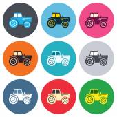 Tractor sign icons — Stock Vector