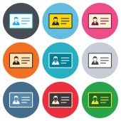 ID card sign icons — Stock Vector