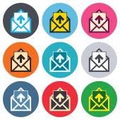 Envelope symbol icons — Stock Vector