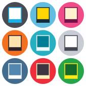 Photo frame template icons — Stock Vector