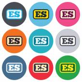 Spanish language sign icons — Stockvector