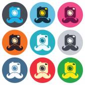 Hipster photo camera signs — Stock Vector