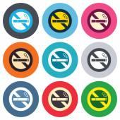 Aucun signe de fumer — Vecteur