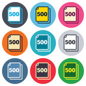 Pack 500 feuilles signes — Vecteur