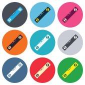 Bubble level sign icons — Vecteur