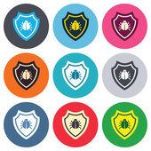 Shield sign icons — 图库矢量图片