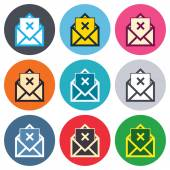 Envelope symbol icons — Vettoriale Stock