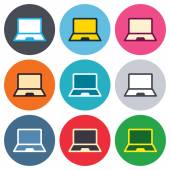 Laptop sign icons — Stock Vector