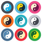 Ying yang sign icons — Stock Vector