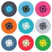 Sun sign icons — Stock Vector