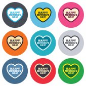 Happy Mothers's Day sign icons — Vecteur