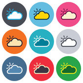 Cloud and sun sign icons — Stockvektor